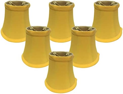 6 Pack, Royal Designs 5 Yellow Bell Chandelier Shade, 3 x 5 x 4.5, CS-201YEL-6