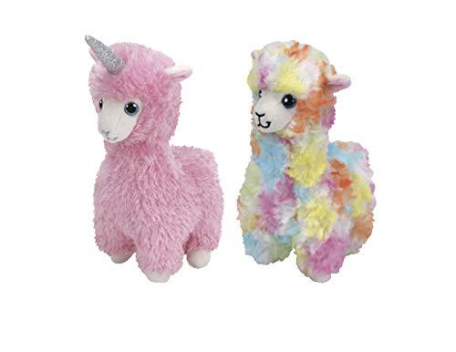 38e11a4a6eb ReBL LLC TY Beanie Babies Plush Stuffed Animal Toys Lola The Multicolor  Llama and Lana The