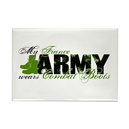 CafePress Fiance Combat Boots - ARMY Rectangle Magnet, 2