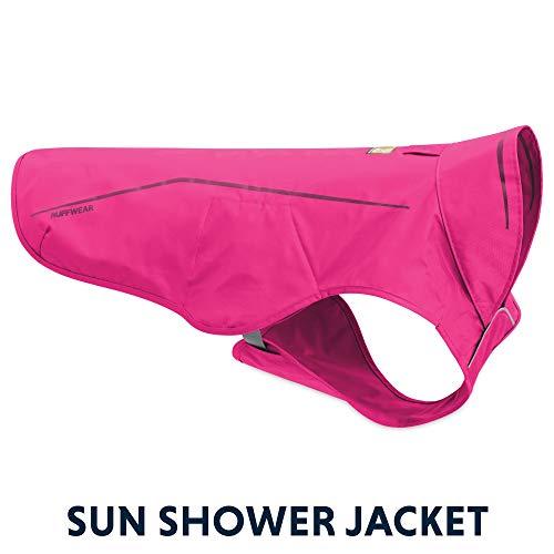 RUFFWEAR - Sun Shower Lightweight Waterproof Rain Jacket for Dogs, Alpenglow Pink, Small ()