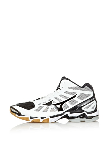 Mizuno Sneakers Indoor Wave Lightning RX2 Mid Bianco/Nero EU 50 (UK 14) Bianco/Nero
