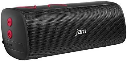 Crisp Tones Mega Volume Jam Thrill Wireless Stereo Speaker Built-In Speakerphone Voice Prompts Perfect for Pool Parties Size of Water Bottle Deep Bass Red Splash-Proof