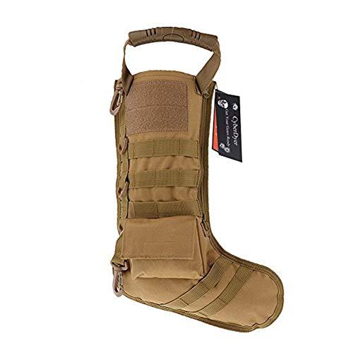 CYBERDYER táctico Molle gota de calcetín de Navidad bolsa Dump Pouch Militar Caza Revista Almacenamiento Bolsas, Caqui, 1
