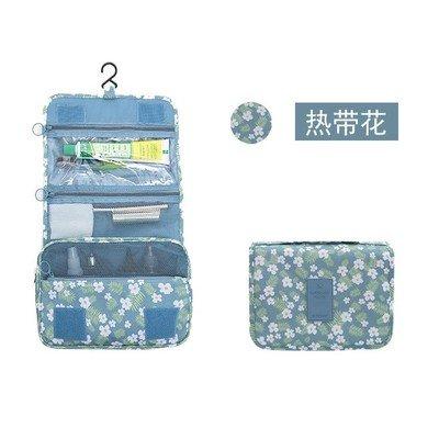 LULANLe voyage sac de lavage extérieur hommes trousse à maquillage waterproof de fèces transporter housse de voyage voyage toilette ,24*10*20cm, fleurs tropicales