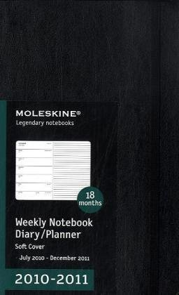 - Moleskine 2010-2011 18 Month Weekly Notebook: Black Soft Cover Large (Moleskine Legendary Notebooks (Calendars)) by Moleskine (2010-03-31)
