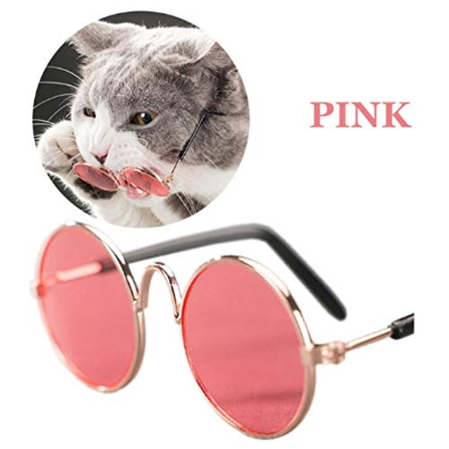 Stock Show Funny Cute Dog Cat Retro Fashion Sunglasses Mosaic Glasses Transparent Eye-wear Protection Puppy Cat Teacher Bachelor Cosplay Glasses Pet Photos Props for Small Dog Cat, ()