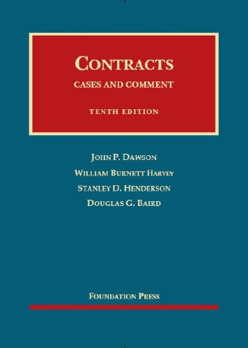 Contracts: Cases and Comment, 10th Edition