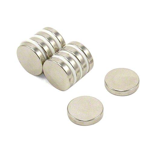 Magnet Expert® 15mm dia x 3mm thick N42 Neodymium Magnet - 2.9kg Pull ( Pack of 10 )