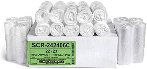 Commercial 250 Pack Source Reduction... Aluf Plastics 33 Gallon Trash Bags