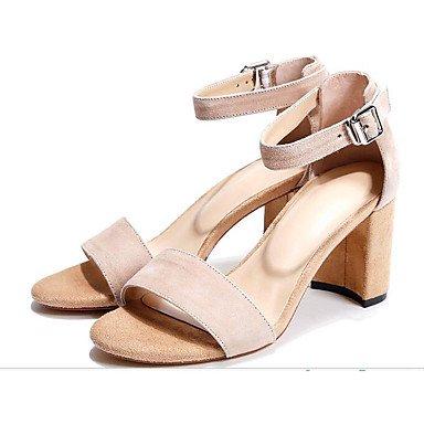 5 Eté Rose 7 Confort Femme Décontracté Nubuck Chaussures ggx Cuir 9 Cm 5 Amande À Talons Almond Lvyuan Noir g8BawPq