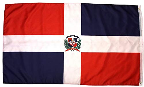 Werrox High Supply Dominican Republic Flag 3x5 Feet National Flag Bandera De Republica Dominicana Outdoor Flag w/Brass Grommets | Model FLG - 489 |