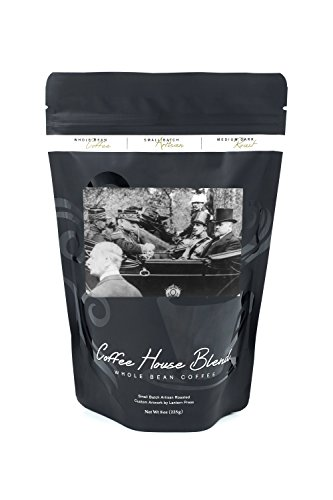 King Alfonso of Spain in Automobile Photograph (8oz Whole Bean Small Batch Artisan Coffee - Bold & Strong Medium Dark Roast w/ Artwork) by Lantern Press