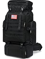 DALNK Military Backpack 80L Tactical Molle Rucksack Explorer Backpacks for Hiking Hunting Travel Mountaineering...