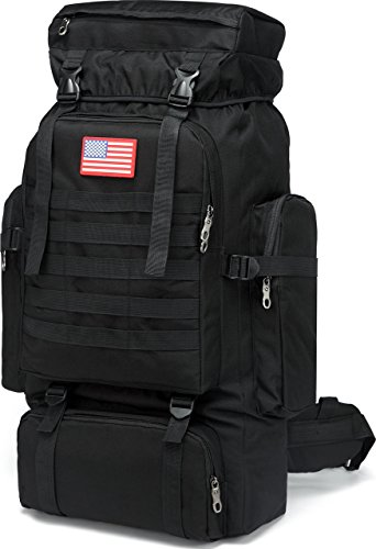 Military Backpack 80L Tactical Molle Backpack Rucksack Bug Out Bag for Shotting...