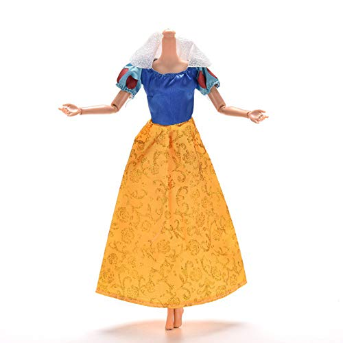 Domccy 1 Piece Kids Toy Princess Custome Snow White Doll Clothes Dresses for Barbie Doll Girls Birthday Gift Baby and Toddler Toys and Games, Dolls, Puzzle Plush Toys, Baby Gifts -