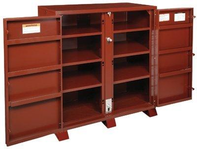 JOBOX 1 694990 Heavy Duty 2 Door Bin Cabinet