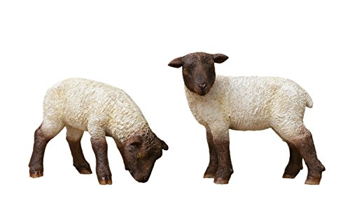 (Your Heart's Delight Grazing Sheep Couple Décorative Accent (Set of 2), 6 x 2 x 4)