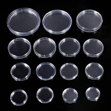 10pcs 18mm a 50mm en caja vitrinas faro monedas cá psulas de monedas Kyz Kuv G114834 - 50mmS