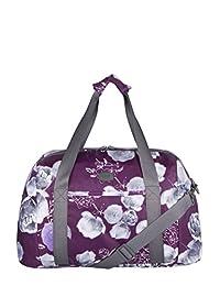 ELLE Yoga Bag with Backstrap for Yoga Mat, Purple Print, Under Seat