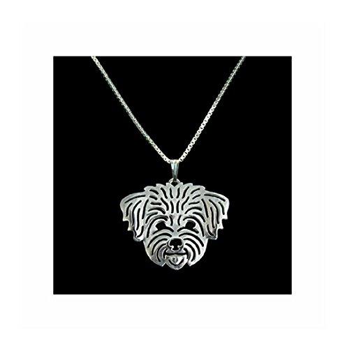 Maltese Necklace Silver-Tone - Womens Maltese