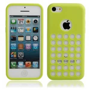 Hollow Style Protective TPU Case for iPhone 5C Green