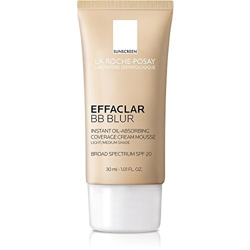 La Roche-Posay Effaclar BB Blur Oil-Free BB Cream Makeup with SPF 20 for Oily Skin, Medium, 1 Fl. Oz.