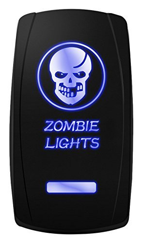 - MICTUNING MIC-LSK1 Zombie Lights Symbol Rocker Switch On-Off LED Light, 20A, 12V, Blue