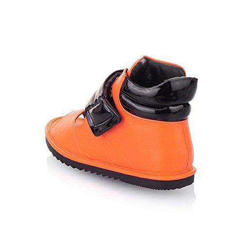 Femmes Doux Des Voguezone009 Toe 5 Royaume Peep Orange uni Au Sandales De 3 Ouvert Pu Couleurs Assorties 5n4Uq4wSx