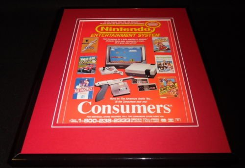 1989-nintendo-entertainment-system-nes-11x14-framed-original-advertisement