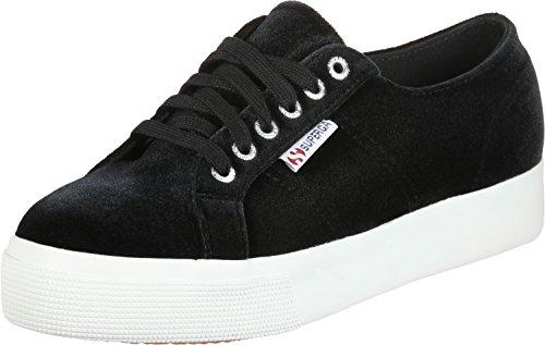 Superga 999 black 2730 velvetchenillew Femme De Noir Chaussures Gymnastique SUHqSpw