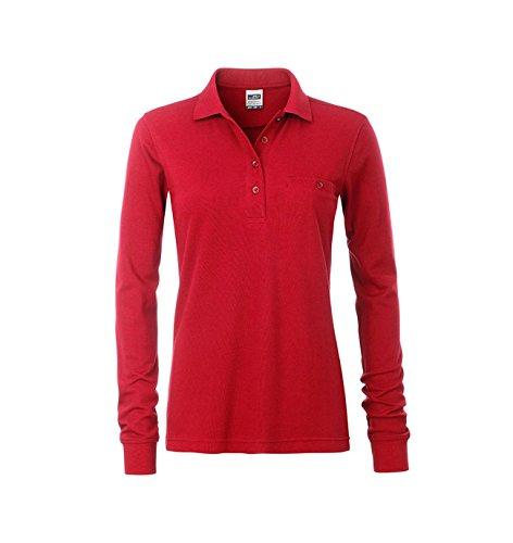 larga el Care Easy duradero y Polo de bolsillo pecho manga en 2store24 rojo con EqnXSP