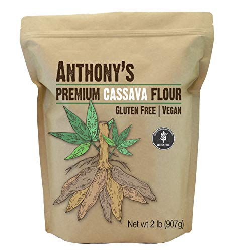 Anthony's Cassava Flour (2lb), Batch Tested Gluten-Free, Non-GMO, Vegan ()