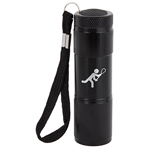 Lacrosse 9-Led Flashlight With Strap - Black Flashlight - Laser Engraved Design - Led Flashlight Keychain - Gift For All Occasions by Modern Goods Shop