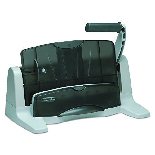 Swingline 3 Hole Punch, LightTouch, 2-7 Holes Heavy Duty Hole Puncher, 40 Sheets Punch Capacity (74357) - Center 40 Sheet