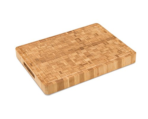 "Large End Grain Bamboo Cutting Board [15⅝x11⅞x1½""] 