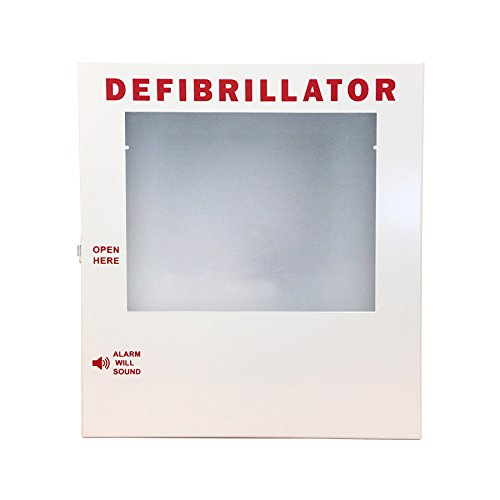 AED Cabinet, Wall Mounted Storage Cabinet Fits Philips, Cardiac Science, Zoll, Defibtech, Physio-Control AED's
