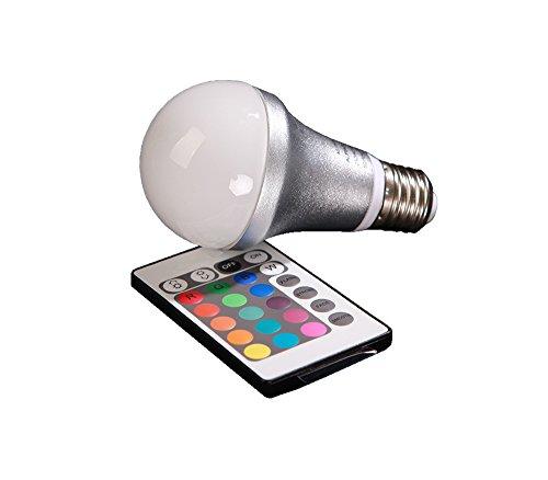 4W A60 farwechselnde LED Lampe mit fernbedientem Farbwechsel, farwechselnde Lampe, farbwechselnde Ambientes Lampe - 16 wechselbaren Farben mit inkludierter Fernbedienung