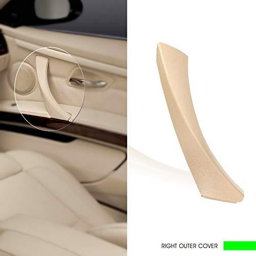 (InSassy Door Panel Pull Handle Trim Cover for BMW E90 E91 E92 E93 3 Series - Right Front/Rear Interior Door Handle Trim Cover - Passenger Side Door Handle Trim Replacement 51-41-9-150-340 Beige)