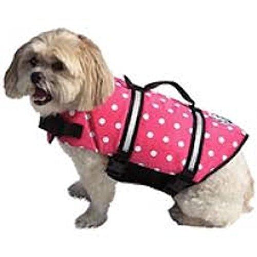 Paws Aboard XXS Doggy Life Jacket Pink Polka Dot