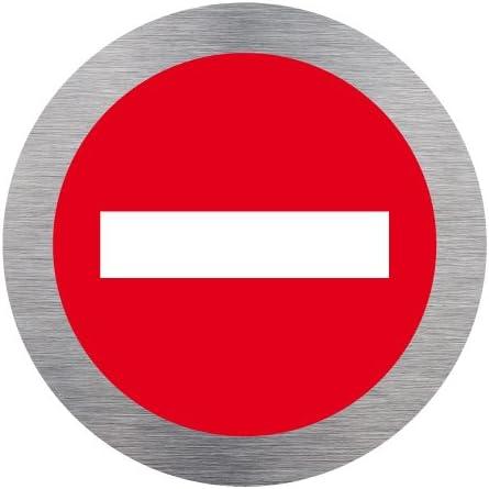 Double face au dos Diam/ètre 350 mm Sens interdit Panneau Plastique rigide disque PVC 1,5 mm Panneau sens interdit autocollant