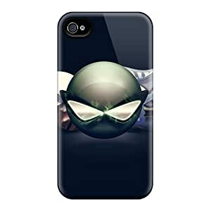 For Iphone 4/4s Tpu Phone Case Cover(emoticons)