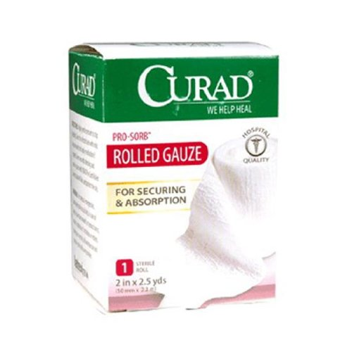 Curad Pro Sorb Rolled Gauze Sterile Roll, 2 in X 2.5 Yards - 1 Ea -