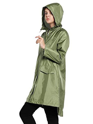 Abrigo De Las Libre Mujeres Lluvia Con Color Aire Botones Al Armee OOAP0Fwq