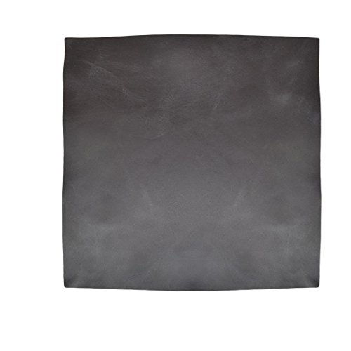 Leather Square (12 x 12 in.) for Crafts/Tooling/Hobby Workshop, Medium Weight (1.8mm) by Hide & Drink :: Charcoal - Leather Black Tanned