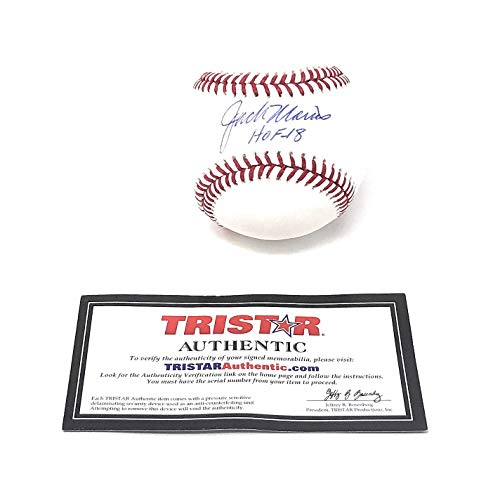 Jack Morris Detroit Tigers Signed Autograph Official MLB Baseball HOF 18 Inscribed Tristar Authentic Certified ()