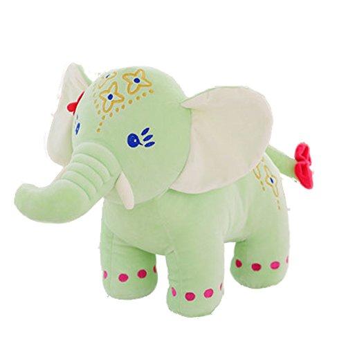 "Cute Elephant Doll Creative Toys Plush Stuffed Toy Baby Birthday Gift Furniture Decoration 11.8"" Green"