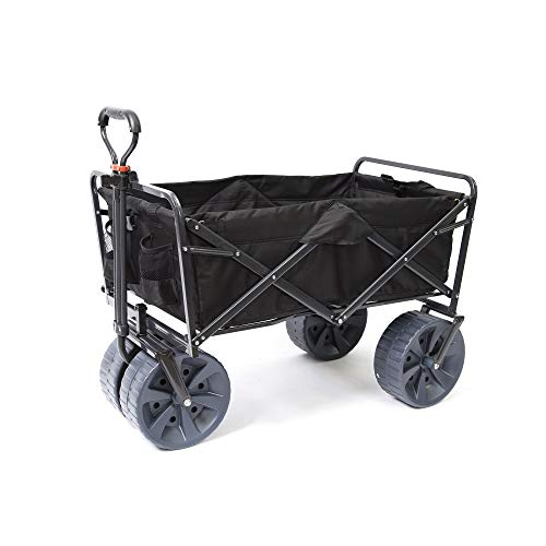 Mac Sports Heavy Duty Collapsible Folding All Terrain Utility Wagon Beach Cart ()