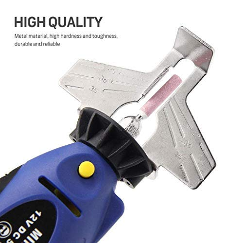 Fullwei Portable Proprietary Chainsaw Saw - 12V Mini Chainsaw Sharpener Electric Grinder Chain Saw Grinder File Pro Tool (Blue)