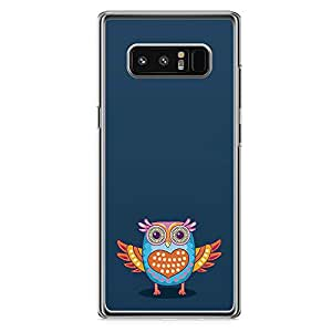 Samsung Note 8 Transparent Edge Phone Case Owl Phone Case Colorful Note 8 Cover with Transparent Frame