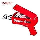 DICC Cash Money Gun, Super Cash Money Shooter Gun Money Dispenser Make It Rain Money Gun Shooter(150PCS)